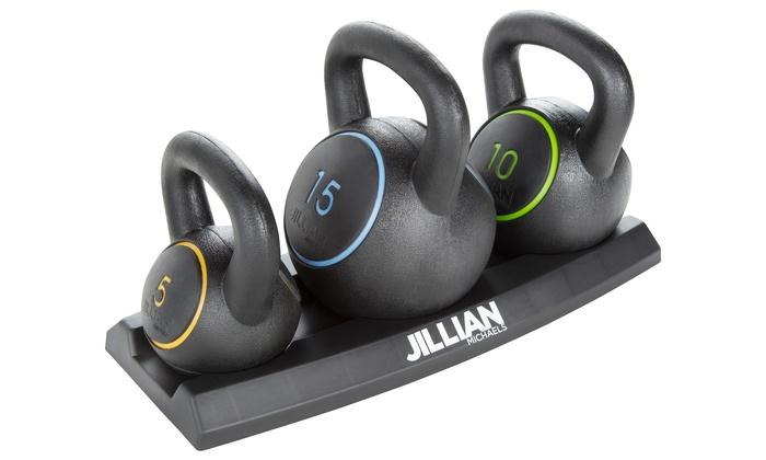 Jillian Michaels Ultimate Kettlebell Set