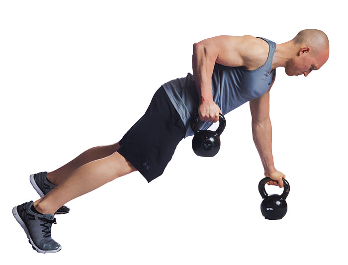 kettlebell renegade row