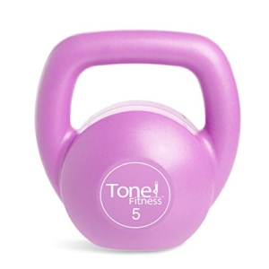 Tone Fitness Vinyl Kettlebells