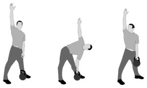 low windmill kettlebell excercise