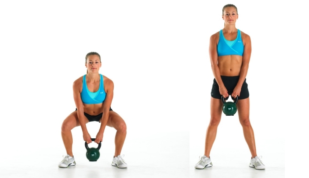 Sumo Deadlift Kettlebell